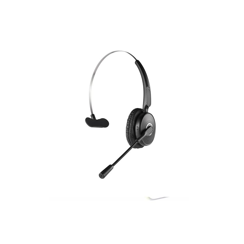 happyset Office - Bluetooth Headset mit Bügel für Videokonferenz Telefonieren Online-Seminare Handy